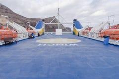 Палуба пассажирского парома Стоковое Изображение RF