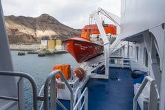 Палуба пассажирского парома Стоковая Фотография RF