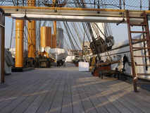 Палуба ратника HMS, стоковая фотография