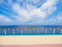 Палуба роскошного туристического судна Стоковое Изображение