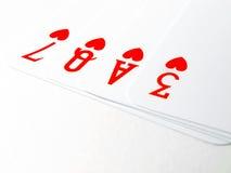 Палуба чешет сердце влюбленности Стоковая Фотография RF