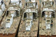 Палубы покинутых кораблей стоковое изображение