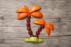 Пальма сделанная из плодоовощей Стоковое Фото