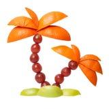 Пальма сделанная из плодоовощей Стоковые Фотографии RF