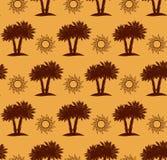 Пальмы, картина пустыни безшовная Стоковое фото RF