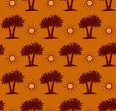 Пальмы, картина пустыни безшовная Стоковое Изображение