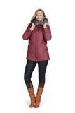 Пальто молодой женщины вкратце Стоковые Изображения RF