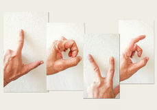 пальцы влюбленности валентинки Стоковые Изображения RF