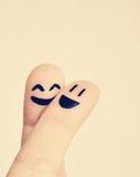 Пальцы влюбленности Стоковые Изображения