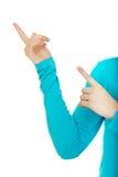 Пальцы женщины указывая вверх Стоковые Фото