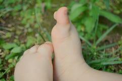 Пальцы ноги младенца Стоковое Фото