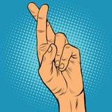 Пальцы пересекли сомнение лож верно Стоковая Фотография RF