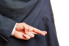 Пальцы пересеченной руки Стоковое Изображение