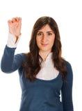 Пальцы скрещивания женщины, молящ, крестящ Стоковые Фото