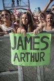 Певица Джеймс Arthus Стоковое фото RF