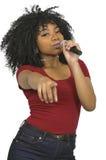Певица женщины Стоковое фото RF