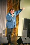 Певица и композитор Игорь Kornelyuk - представление на этапе дворца залы культуры и науки района Москвы Стоковое фото RF