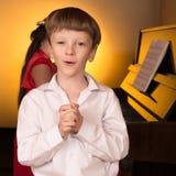Певица и пианист Стоковые Фотографии RF