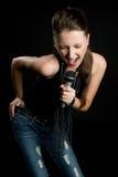 певица караоке стоковые изображения rf