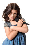 Певица маленькой девочки с ориентацией Стоковые Изображения