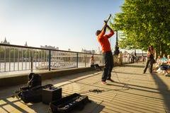 Певица музыканта улицы Стоковое Изображение RF