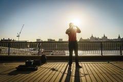 Певица музыканта улицы Стоковые Фото