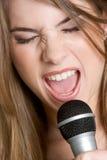 певица нот девушки Стоковые Фото
