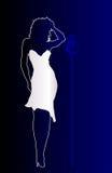 Певица син иллюстрация штока