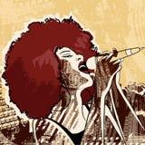 Певица джаза Стоковое фото RF