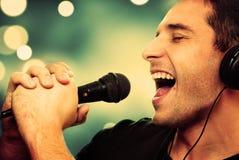 Певица Стоковые Фотографии RF