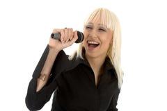 Певица Beautyful Стоковые Изображения RF