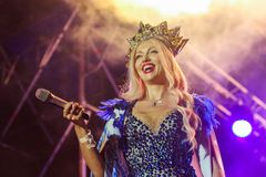 Певица Olya Polyakova Стоковая Фотография RF