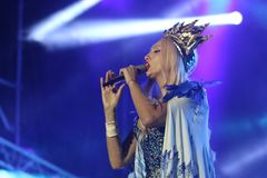 Певица Olya Polyakova Стоковые Фотографии RF
