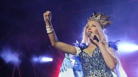 Певица Olya Polyakova Стоковое Изображение RF