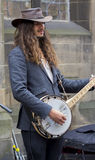 Певицы и музыканты на фестивале края, Эдинбург, Шотландия стоковое фото