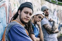 3 певицы рэпа в метро Стоковое Изображение