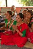 Певицы Chitwan, Непала Стоковое Фото