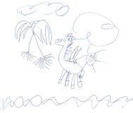 Пегас и голубь Стоковое Изображение