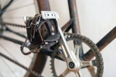 Педаль винтажного велосипеда стоковые фото
