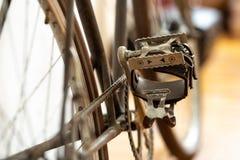 Педаль винтажного велосипеда стоковая фотография rf