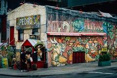 Педро, в DUMBO, Бруклин, Нью-Йорк стоковое фото rf