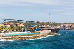 Пейзажный бассейн на Curacao Стоковое фото RF