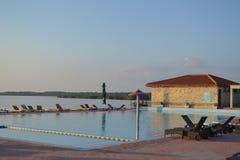 Пейзажный бассейн перепада Дуная Стоковое Фото