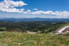 Пейзаж ландшафта горы с голубым небом над timberline Стоковое Изображение