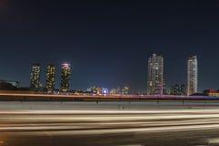 Пейзаж Бангкока к ноча Стоковые Фото