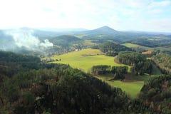 Пейзаж богемской Швейцарии Стоковые Изображения RF