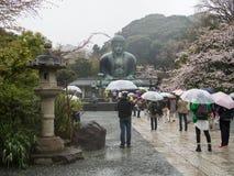 Пейзаж большой статуи бронзы Будды Стоковые Изображения RF