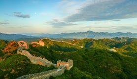 Пейзаж Великой Китайской Стены Стоковые Фото