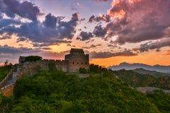 Пейзаж Великой Китайской Стены Стоковое Изображение RF