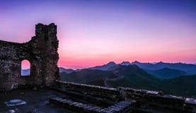 Пейзаж Великой Китайской Стены Стоковое Изображение
